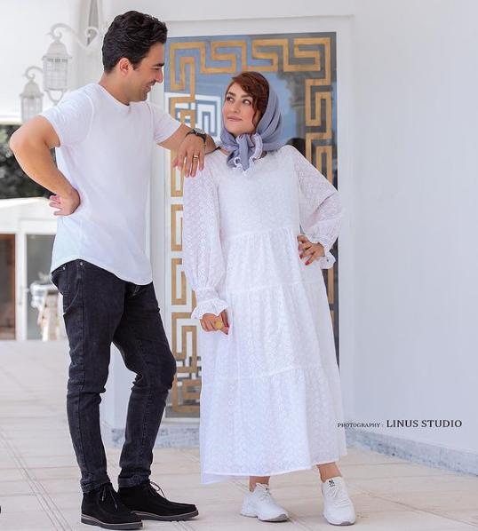 الهام طهموری و همسرش