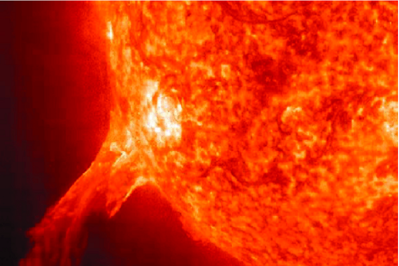 Size-of-earth-compared-to-the-sun-and-a-solar-flare-credit-jplnasagov