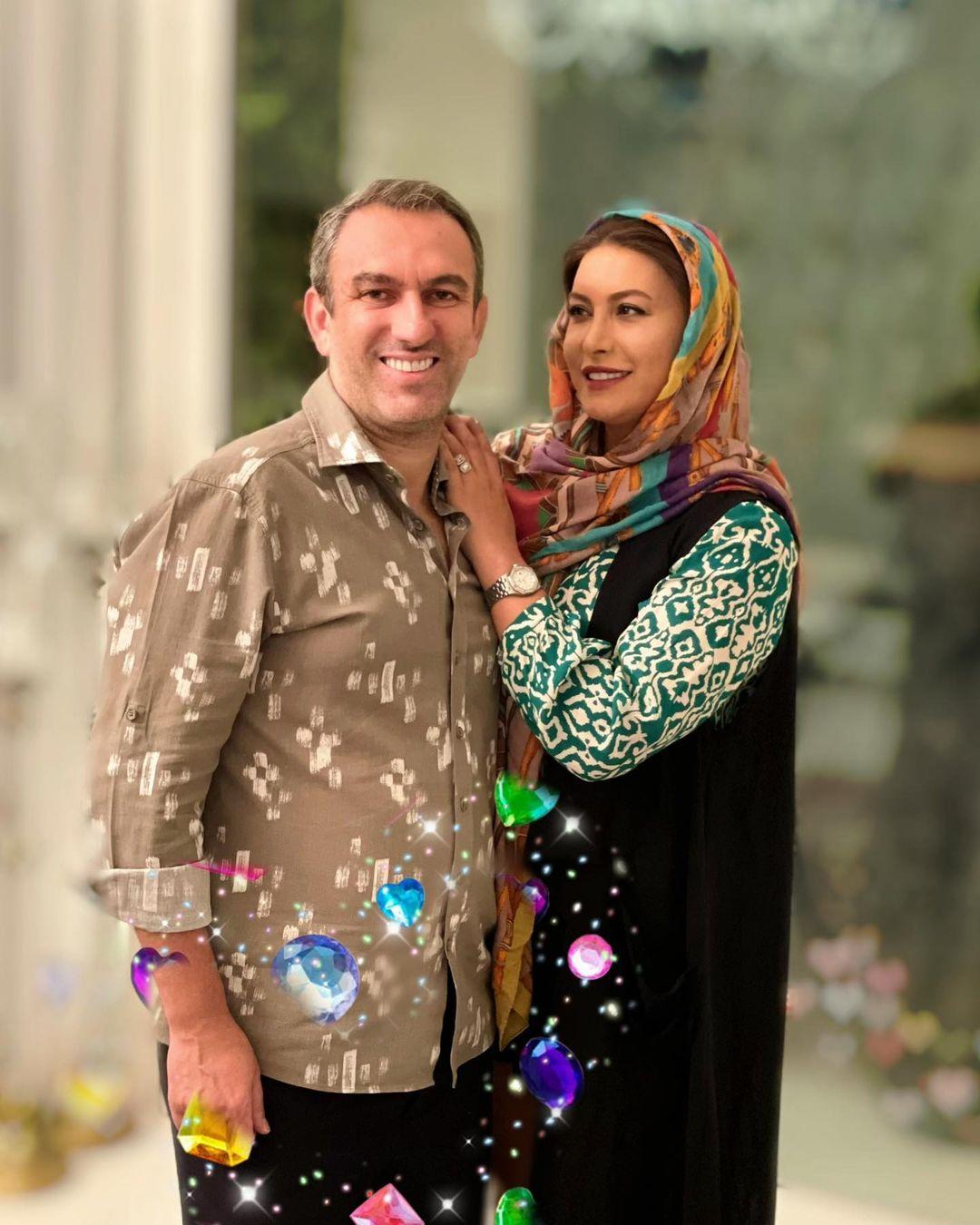 فریبا نادری و همسرش