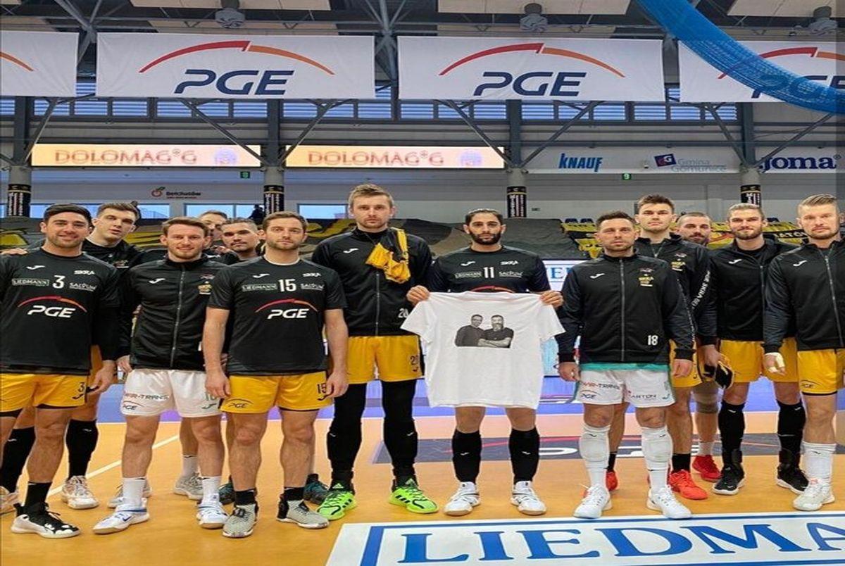 ادی احترام لژیونر  والیبال ایرانی به انصاریان و میناوند