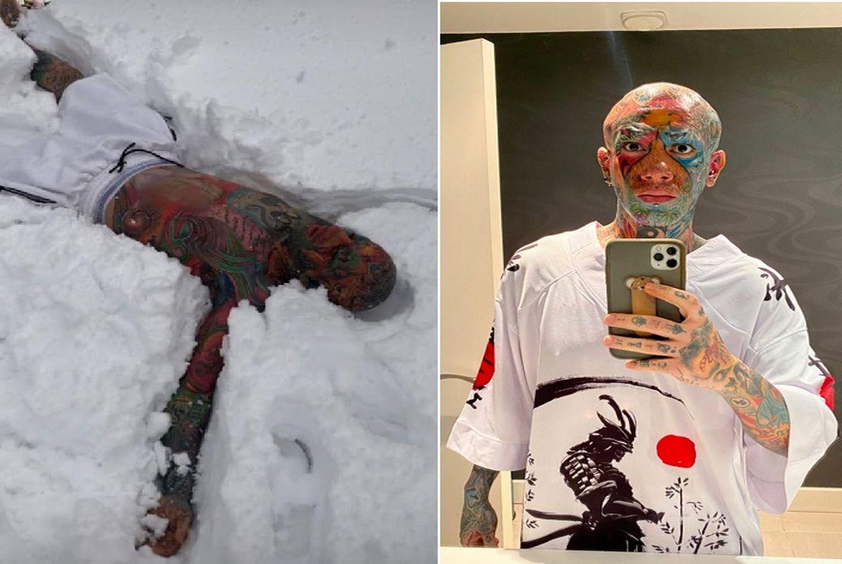 دیوانه بازی امیر تتلو در برف ؛ آمادگی بدنی بالا یا تاثیر مخدر؟