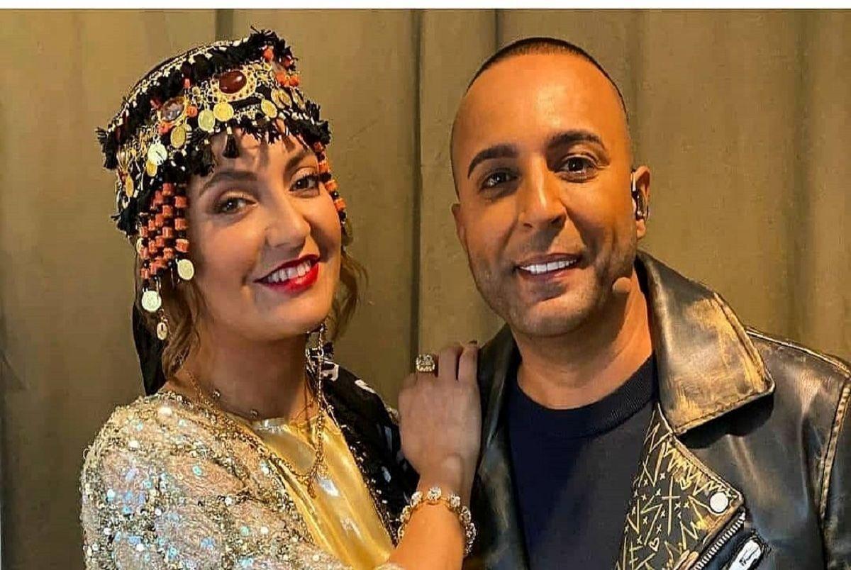 (عکس) سبزه گره زدن مهناز افشار و آرش خواننده لس آنجلسی