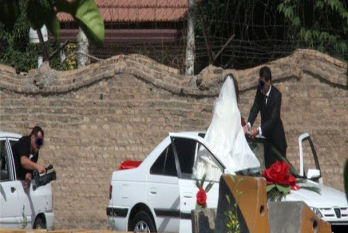 (ویدیو) فیلم جنجالی عروس داماد بدون حجاب در خیابان!