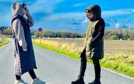 سارا و نیکا در خیابان های سوئد در حال خود نمایی و ولگردی!