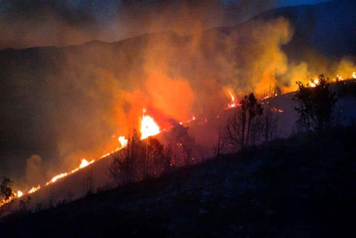 احتمال شروع آتشسوزی زودهنگام در مراتع