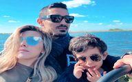 عکس دیده نشده از رضا قوچان نژاد و خانواده اش