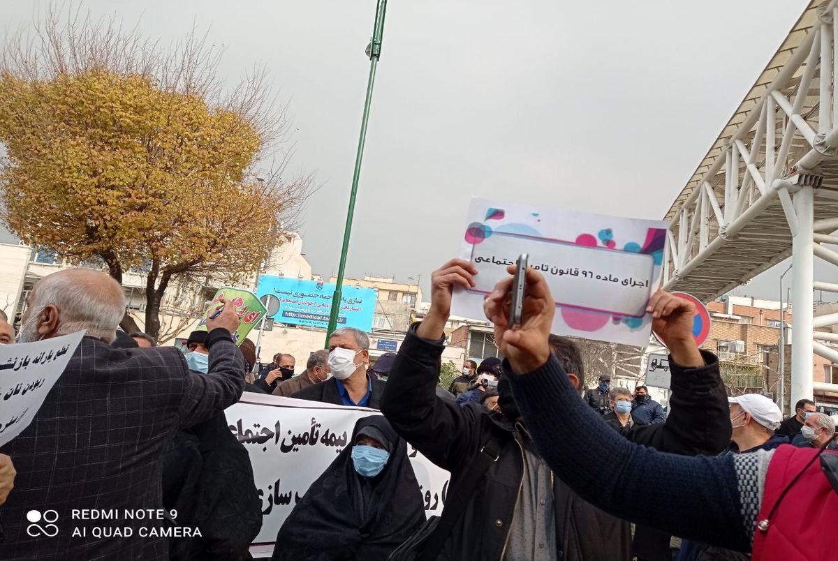 بازنشستگان تامین اجتماعی در تبریز تجمع اعتراضی کردند