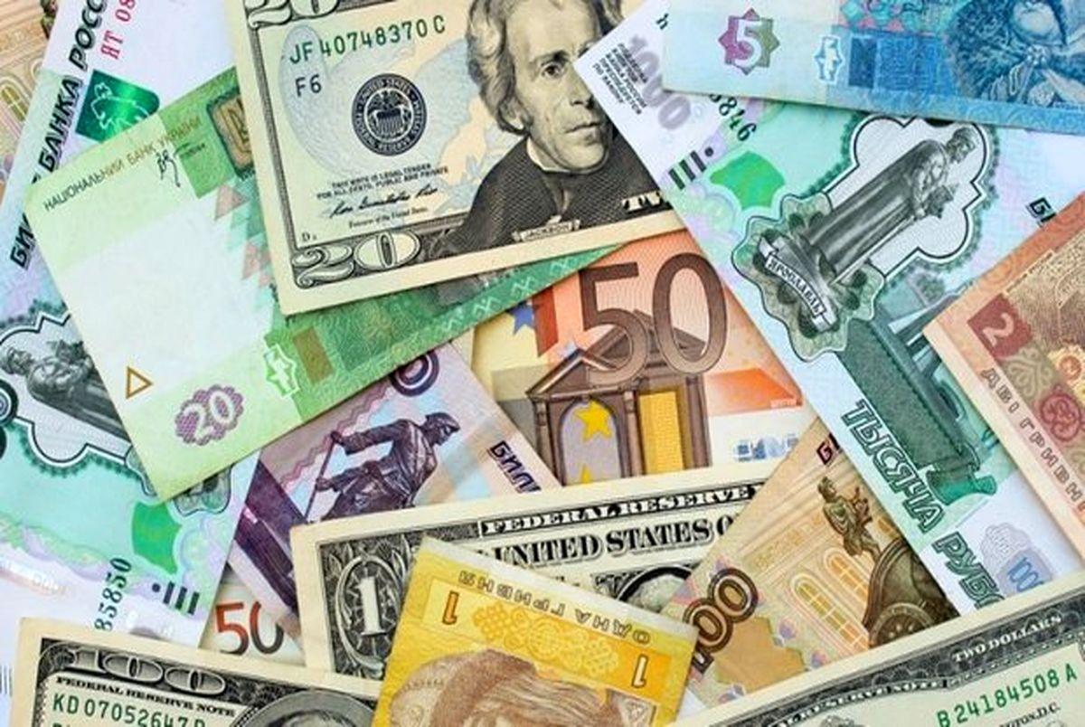افزایش نرخ 18 ارز ، نرخ کدام ارز ها امروز افزایش داشته است؟