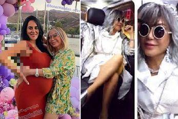 """""""شهره صولتی"""" در جشن بارداری دخترش؛ خانم خواننده چه دافی شده! +عکس"""