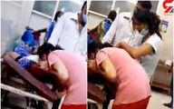 تلاش دردناک یک دختر برای نجات جان مادر کرونایی اش