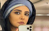 سلفی لیندا کیانی با چهره زیبا و متفاوت با لاک قرمز! + عکس