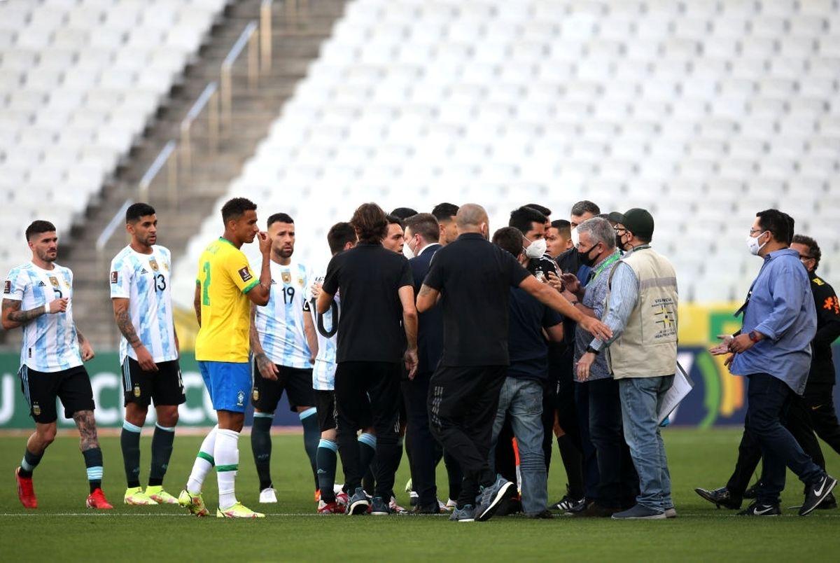 بازی برزیل و آرژانتین