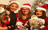 عکس کم حجاب هانیه توسلی و شقایق فراهانی در شب کریسمس!