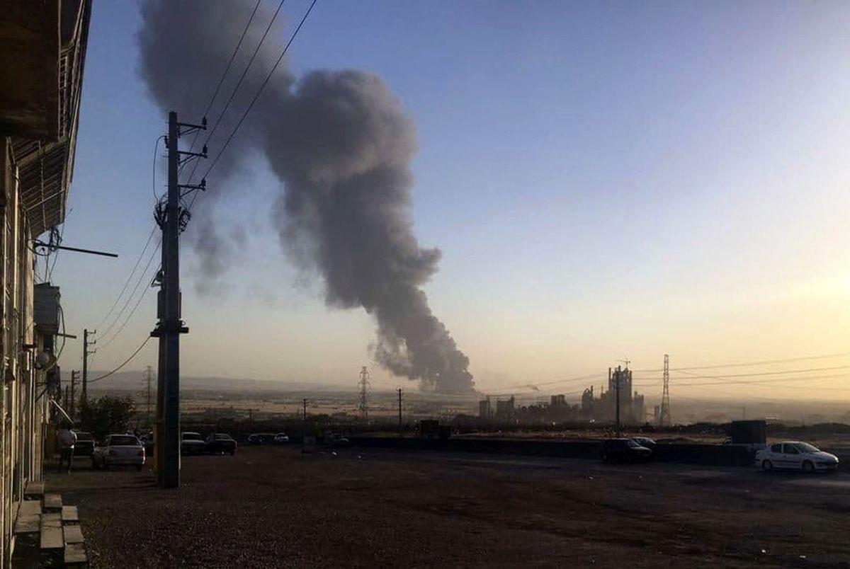 آتش سوزی پالایشگاه تهران چهارشنبه 12 اردیبهشت