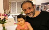 عکس  جدید مهران غفوریان بعد از عمل در کنار دختر و همسرش